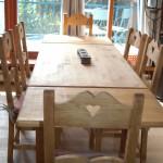 table avec rallonges 240 cm 10 personnes